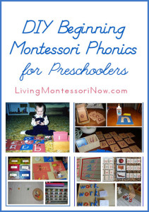 DIY Beginning Montessori Phonics for Preschoolers