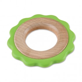 Green Ring Two-Stage Teether Toy from For Small Hands