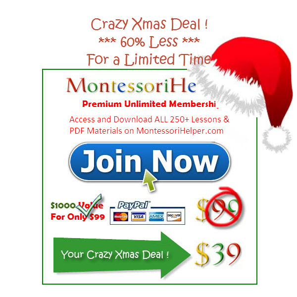 Montessori Helper Crazy Christmas Deal - 60% Off!