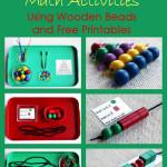 Montessori Monday – Montessori-Inspired Math Activities Using Wooden Beads and Free Printables