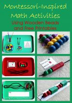 Montessori Monday – Montessori-Inspired Math Activities Using Wooden Beads and Free Printables