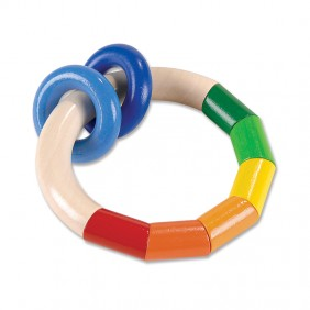 Rainbow Ring Clutching Toy from For Small Hands