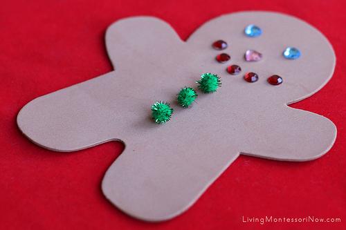 Christmas Gingerbread Man Fine-Motor Activityr or Craft