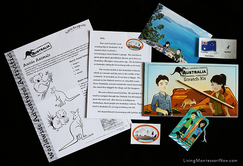 Contents of the Little Passports Australia Package