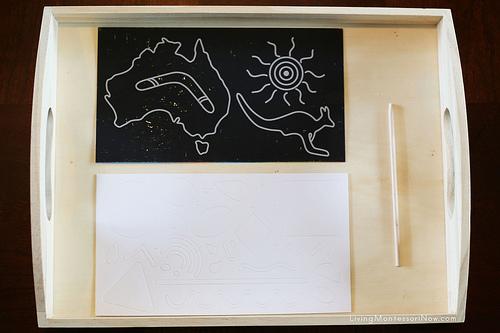 Australia Scratch Kit Tray
