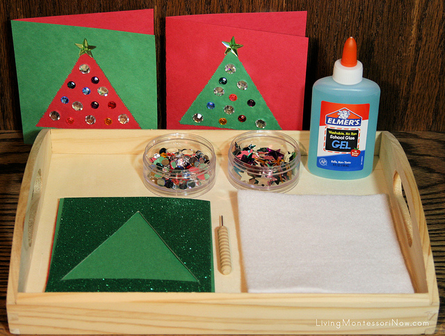 Montessori-Inspired Metal Inset Tree Pin Punching Tray