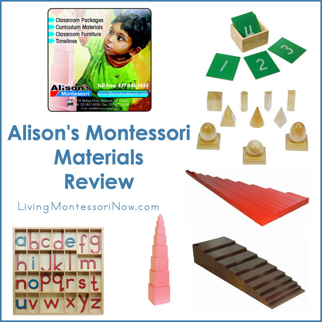 Alison's Montessori Materials Review