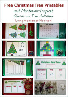 Free Christmas Tree Printables and Montessori-Inspired Chirstmas Tree Activities