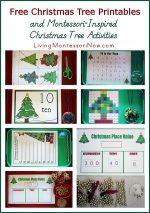 Free Christmas Tree Printables and Montessori-Inspired Christmas Tree Activities