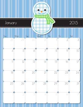 January 2015 Printable Calendar from iMom