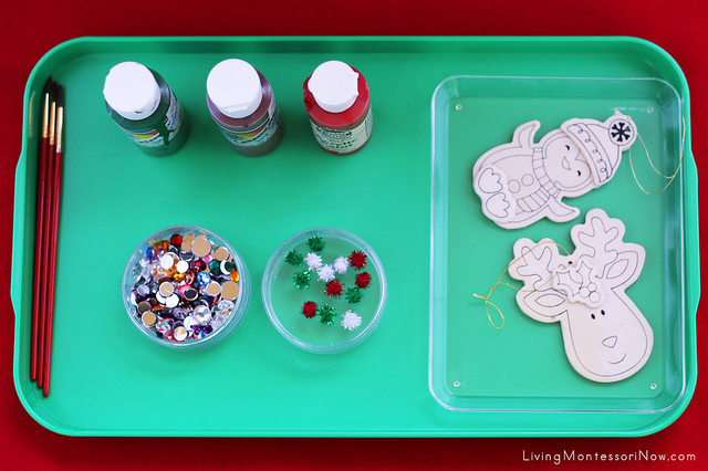 Tray for Creating Painted Wooden Ornaments