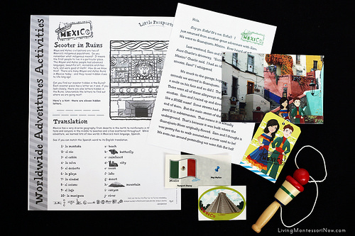 Contents of the Little Passports Mexico Package