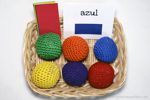 Color Tablets, Spanish Colors, and Yarn Ball Basket