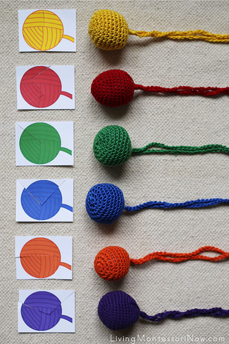 Yarn Color Puzzles and Yarn Ball Layout
