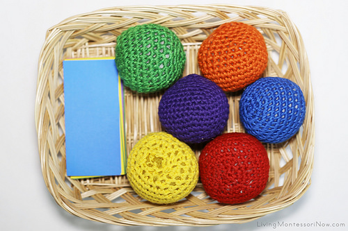 Color Tablets and Yarn Ball Basket