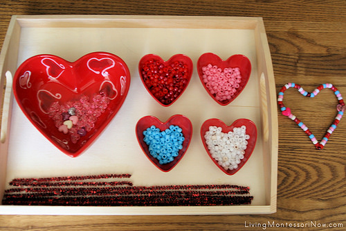 Montessori-Oriented Pipe-Cleaner-and-Bead Activity