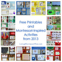 Free Printables and Montessori-Inspired Activities from 2013
