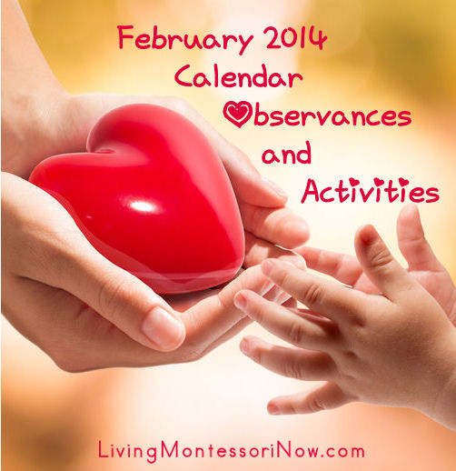February 2014 Calendar Observances and Activities