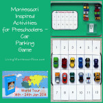 Montessori Monday – Montessori Inspired Activities for Pre-Schoolers: Car Parking Game