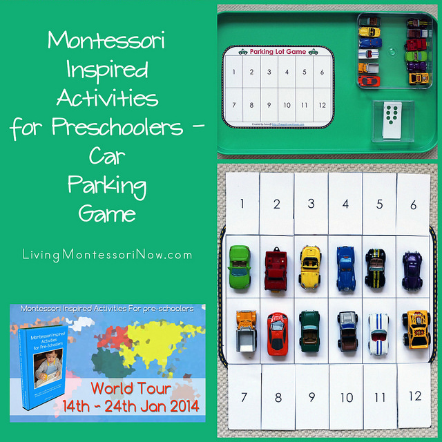 Montessori Inspired Activities for Preschoolers - Car Parking Game