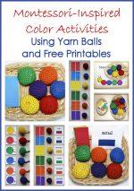 Montessori Monday Montessori Inspired Color Activities