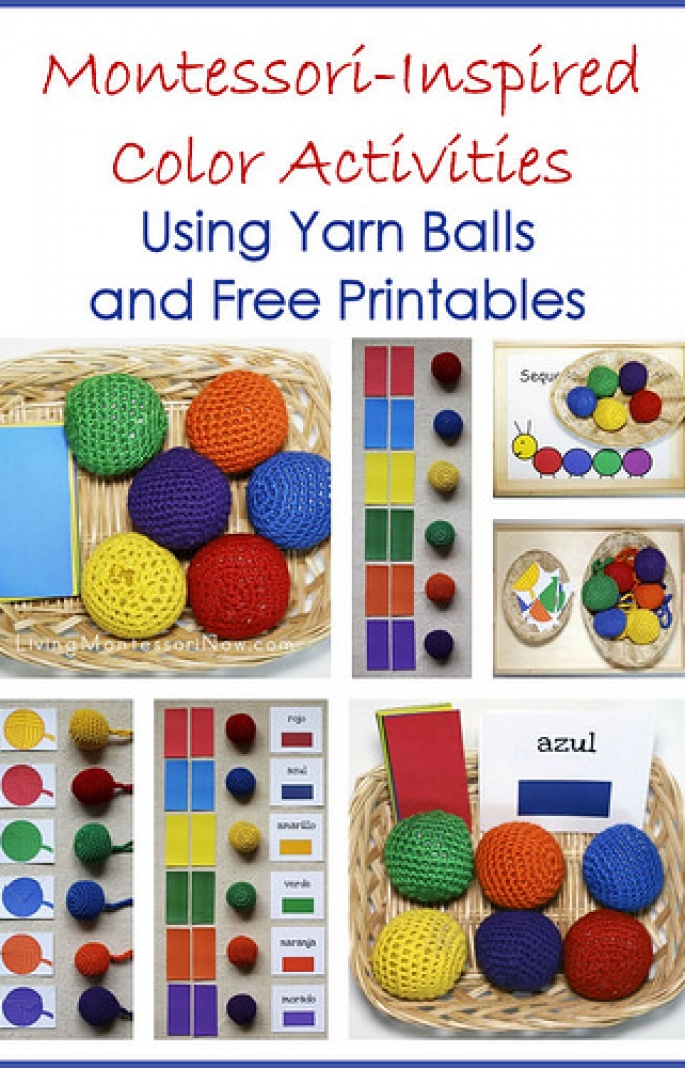 Montessori-Inspired Color Activities Using Yarn Balls and Free Printables