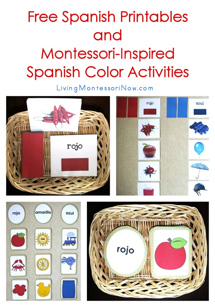 Free Spanish Printables And Montessori Inspired Color Activities