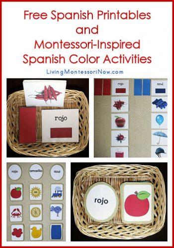 Free Spanish Printables and Montessori-Inspired Spanish Activities