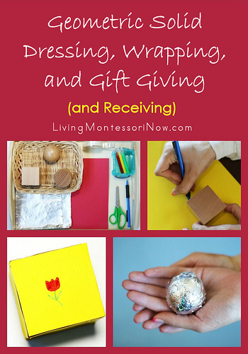 Geometric Solid Dressing, Wrapping, and Gift Giving (and Receiving)