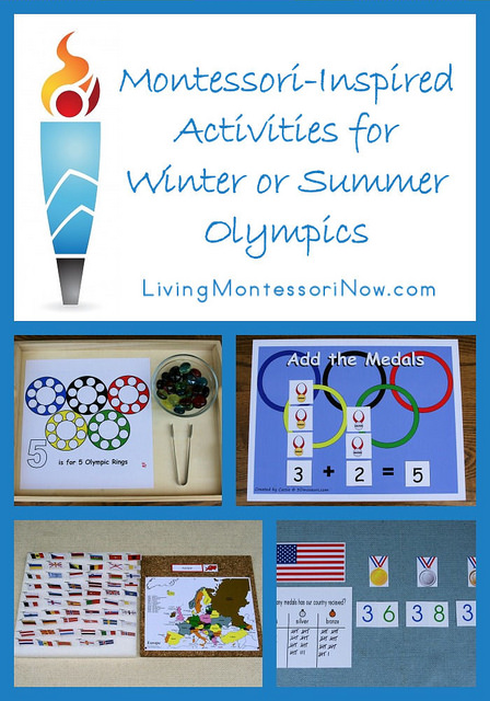 Montessori Monday – Montessori-Inspired Activities for Winter or Summer Olympics