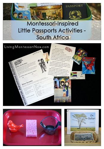 Montessori-Inspired Little Passports Activities - South Africa
