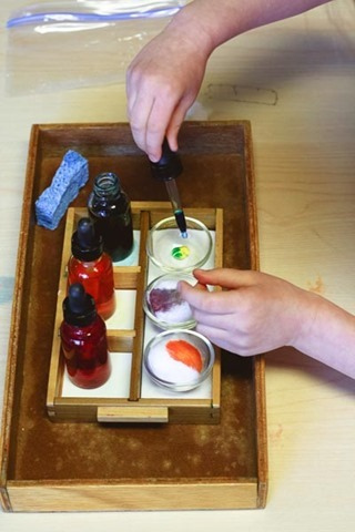 Color Mixing Work (Photo from Montessori Works)