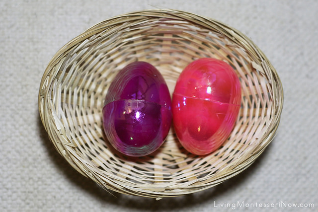 Break-Apart Easter Egg Activities Basket