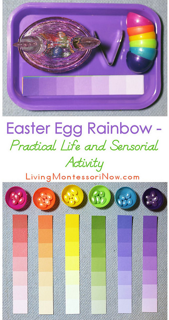 Montessori Monday – Easter Egg Rainbow Practical Life and Sensorial Activity