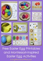 Free Easter Egg Printables and Montessori-Inspired Easter Egg Activities