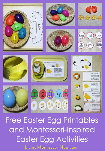 free easter egg printables and montessori inspired easter egg activities
