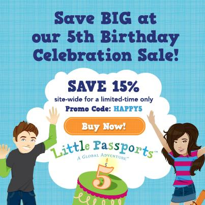 Little Passports 5th Birthday Celebration Sale