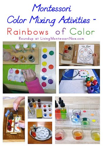 Montessori Color Mixing Activities - Rainbows of Color