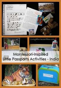 Montessori-Inspired Little Passports Activities - India
