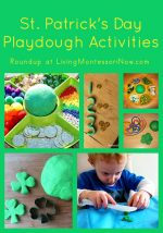 Montessori Monday – St. Patrick's Day Playdough Activities