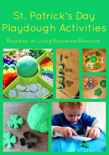 Montessori Monday – St. Patrick's Day Playdough Activities