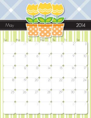 Free Printable May Calendar from iMom