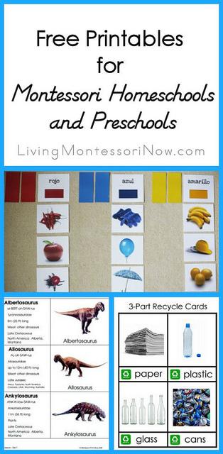 Montessori Monday – Free Printables for Montessori Homeschools and Preschools