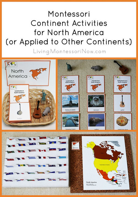 Montessori Continent Activities for North America