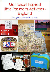 Montessori-Inspired Little Passports Activities - England