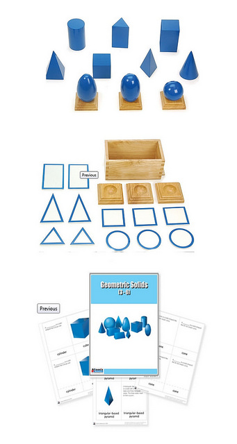 Alison's Montessori Geometric Solids, Bases, and Nomenclature Cards