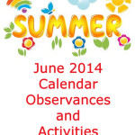 June 2014 Calendar Observances and Activities
