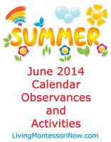 June 2014 Calendar Observances and Activities