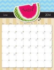 June 2014 Printable Calendar