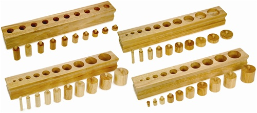 Knobbed Cylinder Blocks from Alison's Montessori